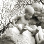 Children's Fountain (1912), south side of Ferril Lake.
